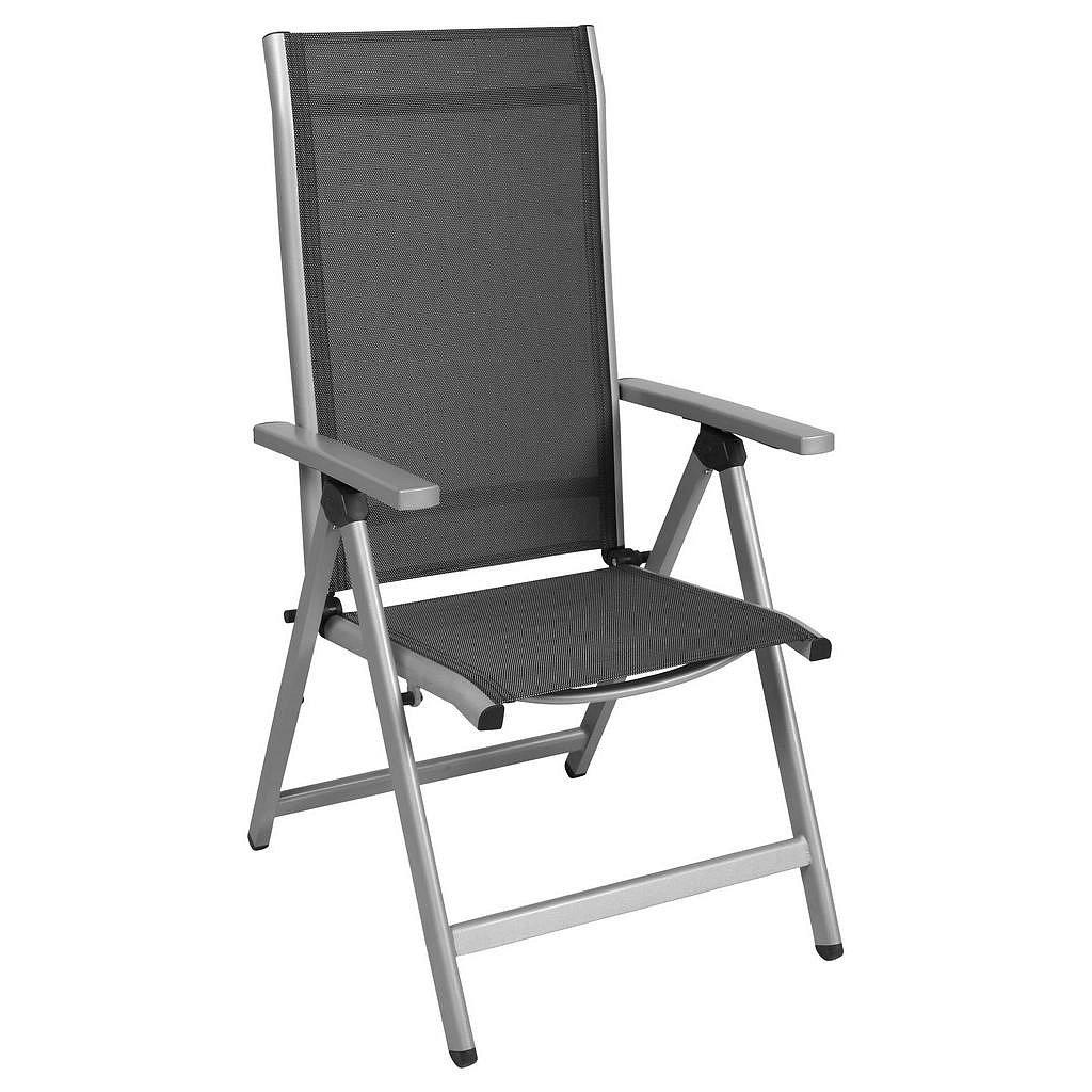 Ambia Garden Zahradní Sklápěcí Židle, Šedá, Barvy Stříbra - Zahradní židle skládací - 002672012922