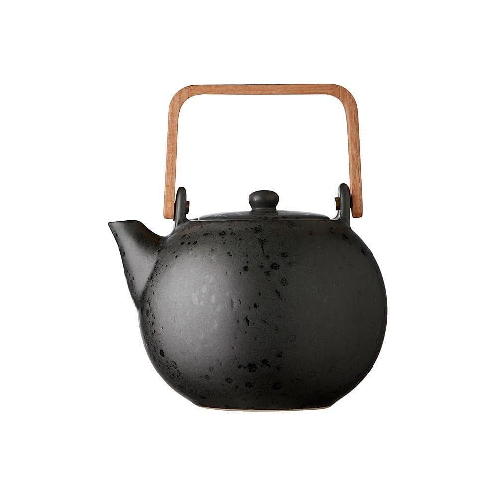 Černá kameninová konvička na čaj Bitz Basics Black, 1,2 l