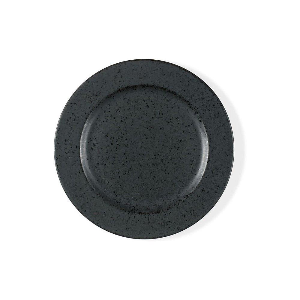 Černý kameninový dezertní talíř Bitz Basics Black, ⌀ 22 cm