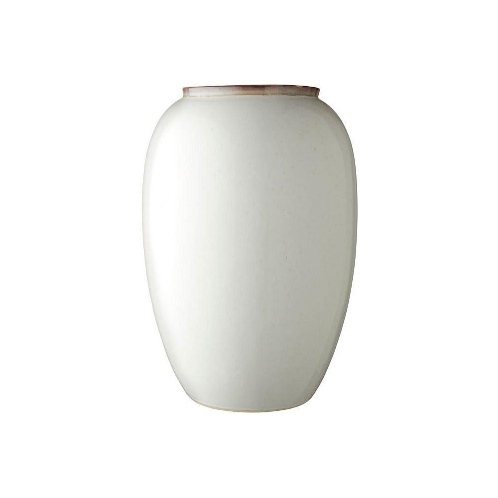 Krémová kameninová váza Bitz Basics Cream, výška 50 cm
