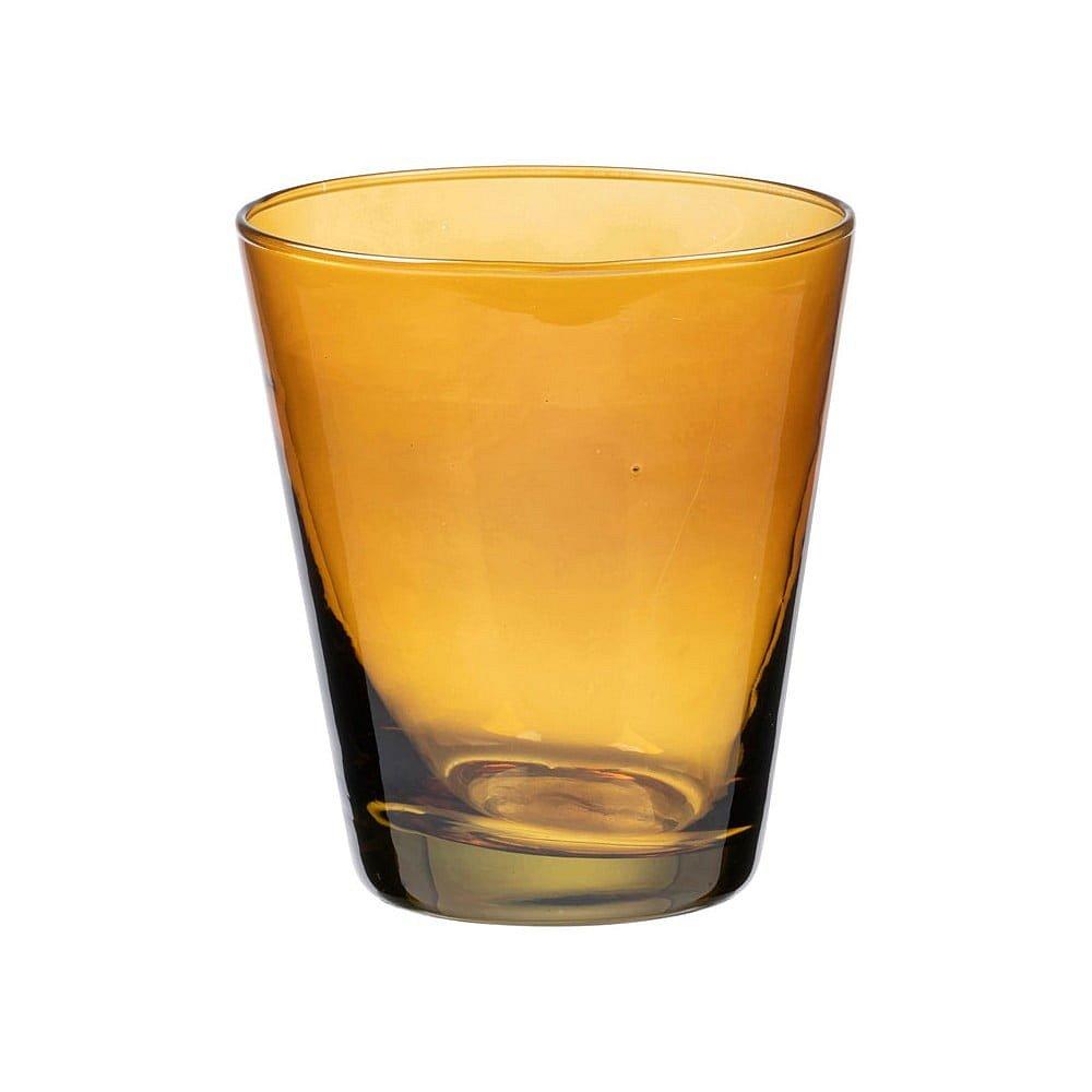 Žlutá sklenice na vodu Bitz Basics Amber, 300 ml