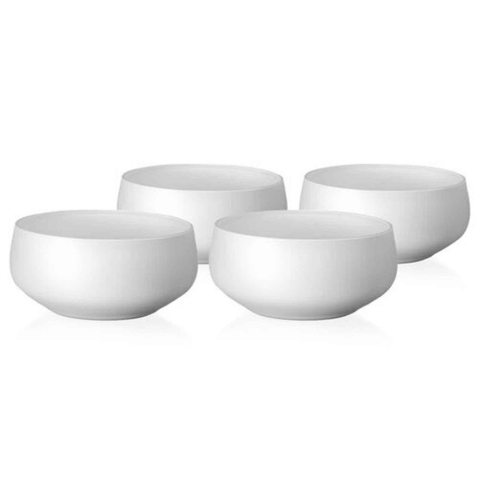 Crystalex 4dílná sada misek Mini Bowls White, 95 ml
