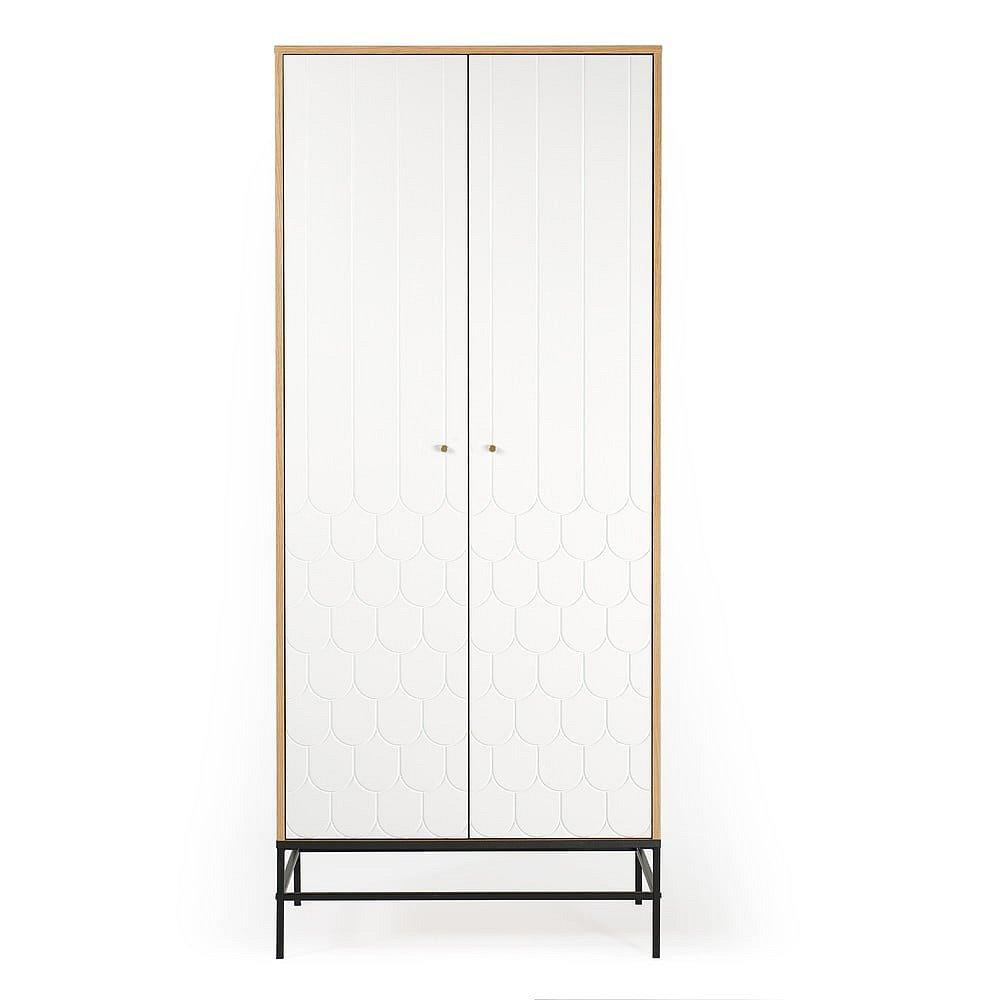 Bílá šatní skříň Woodman Lia