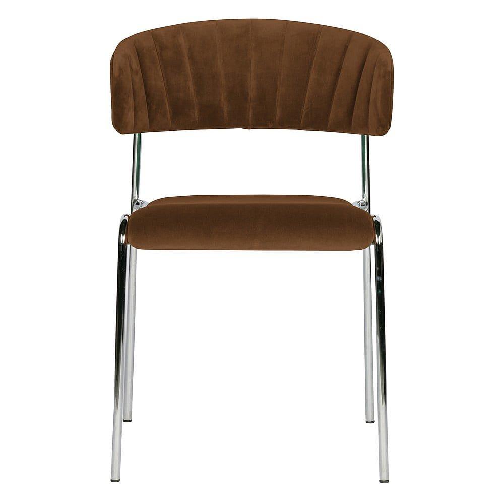 Sada 2hnědých jídelních židlí BePureHome Twitch Velvet