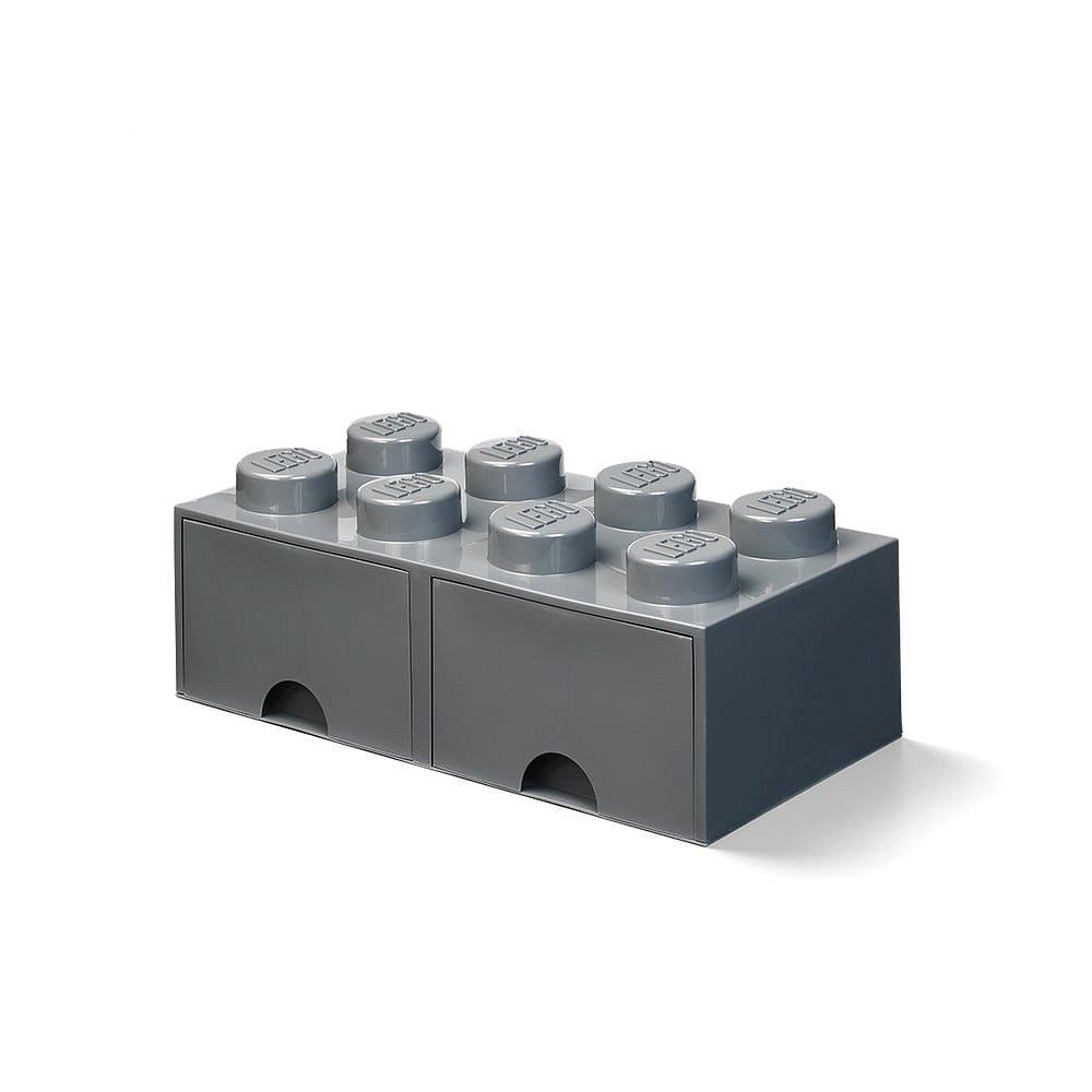 Dětský tmavě šedý úložný box se 2 zásuvkami LEGO®