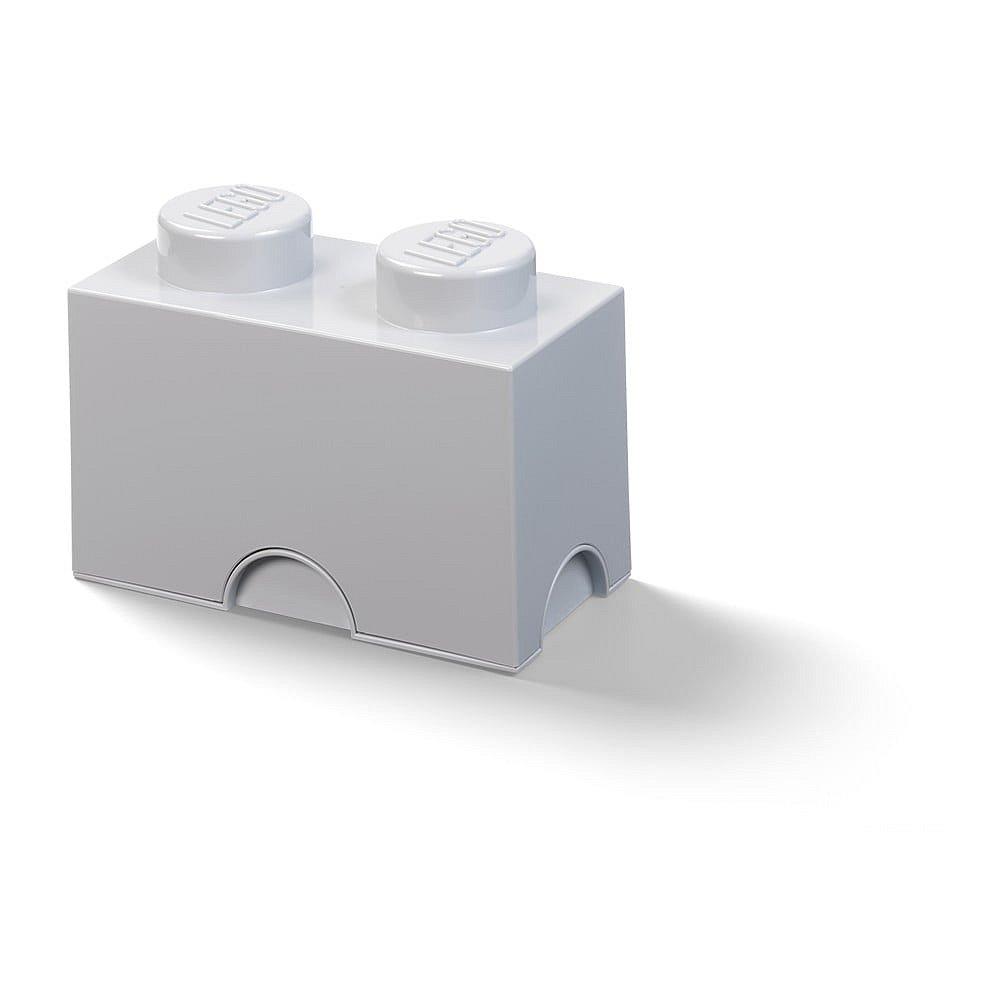 Dětský šedý úložný box LEGO® Rectangle