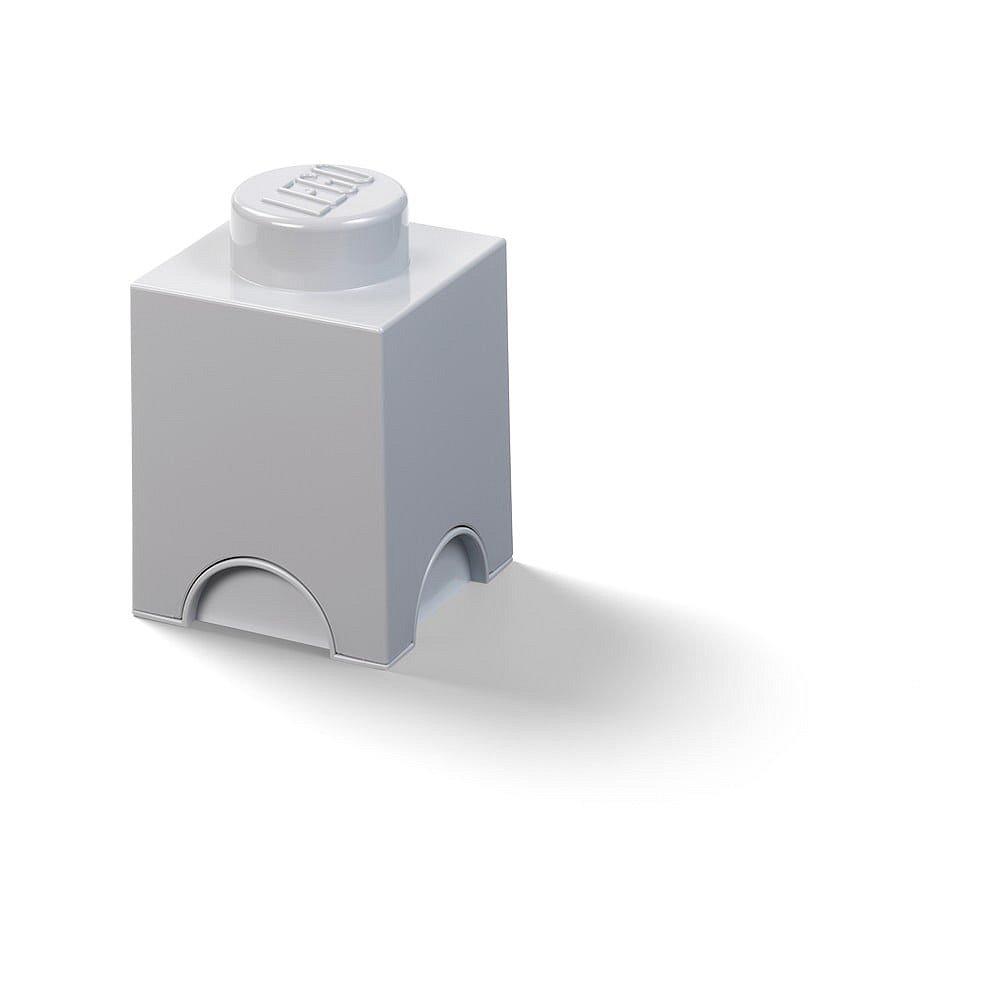 Dětský šedý úložný box LEGO® Cuboid