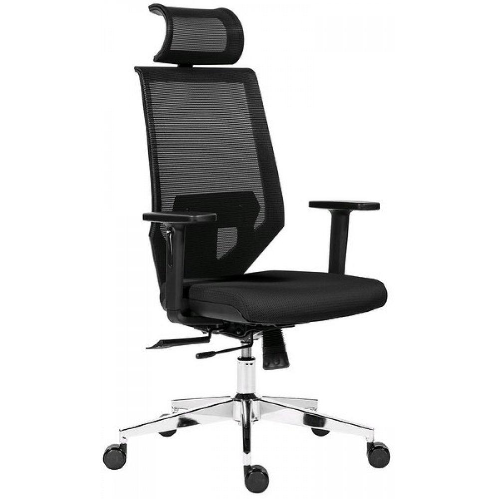 Kancelářské křeslo Edge, černé/černé - 68x119-132,5x65 cm