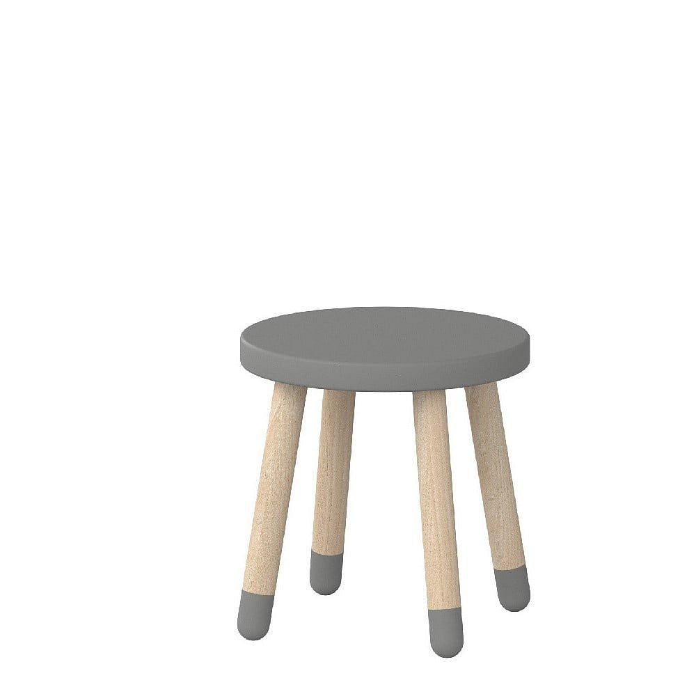 Šedá dětská stolička Flexa Play, ø 30 cm