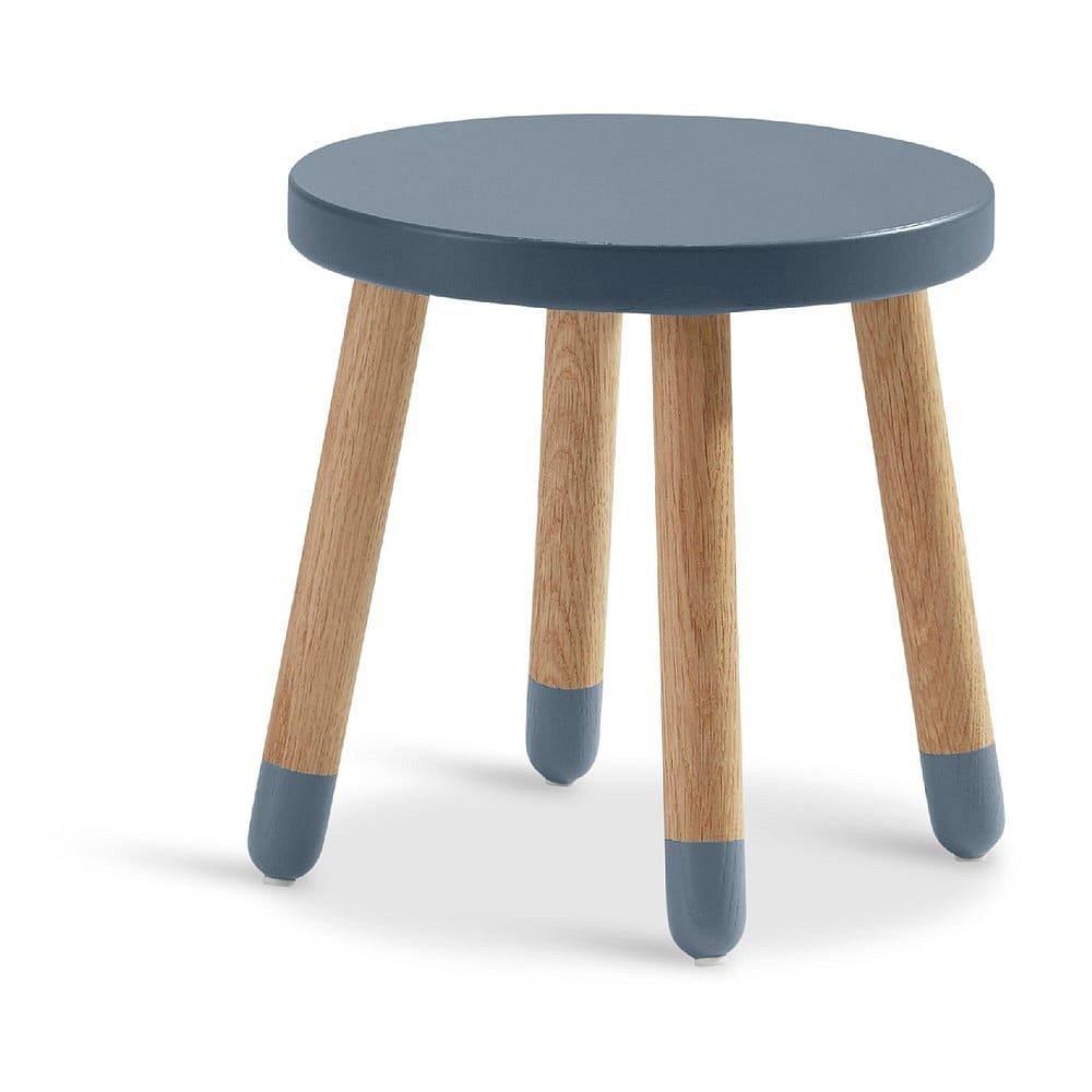 Modrá dětská stolička Flexa Play, ø 30 cm