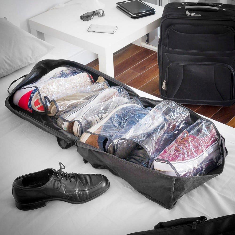 Černá cestovní taška na boty InnovaGoods