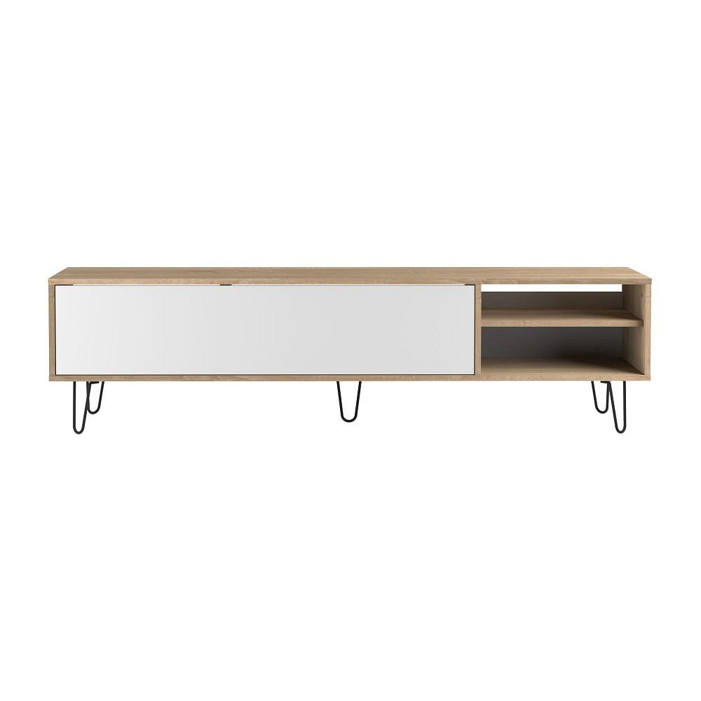 Bílý televizní stolek TemaHome Aero