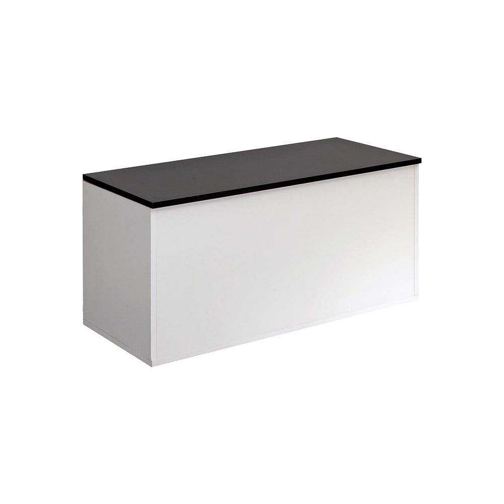 Bílá úložná truhla s černým víkem TemaHome Knight