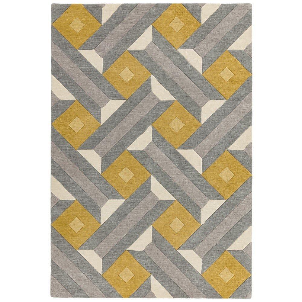 Šedo-žlutý koberec Asiatic Carpets Motif, 120 x 170 cm