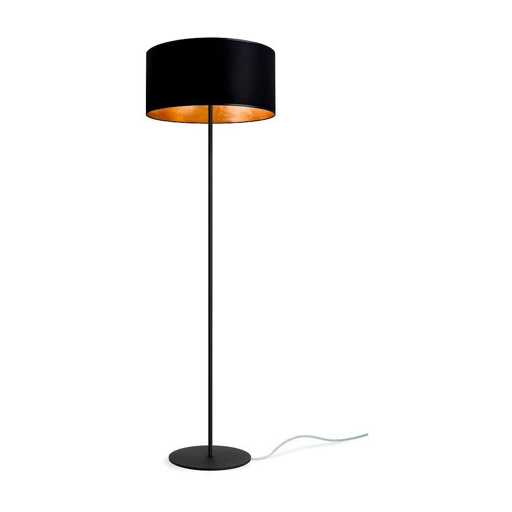 Černozlatá stojací lampa Sotto Luce Mika, ⌀40 cm