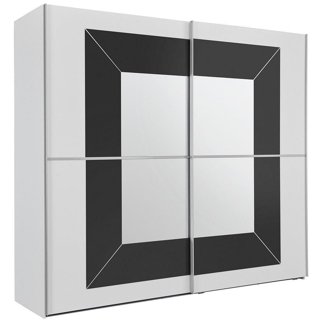 Cantus Skříň S Pos. Dveřmi.(Hor.ved.), Šedá, Bílá - Skříně s posuvnými dveřmi - 000380031214