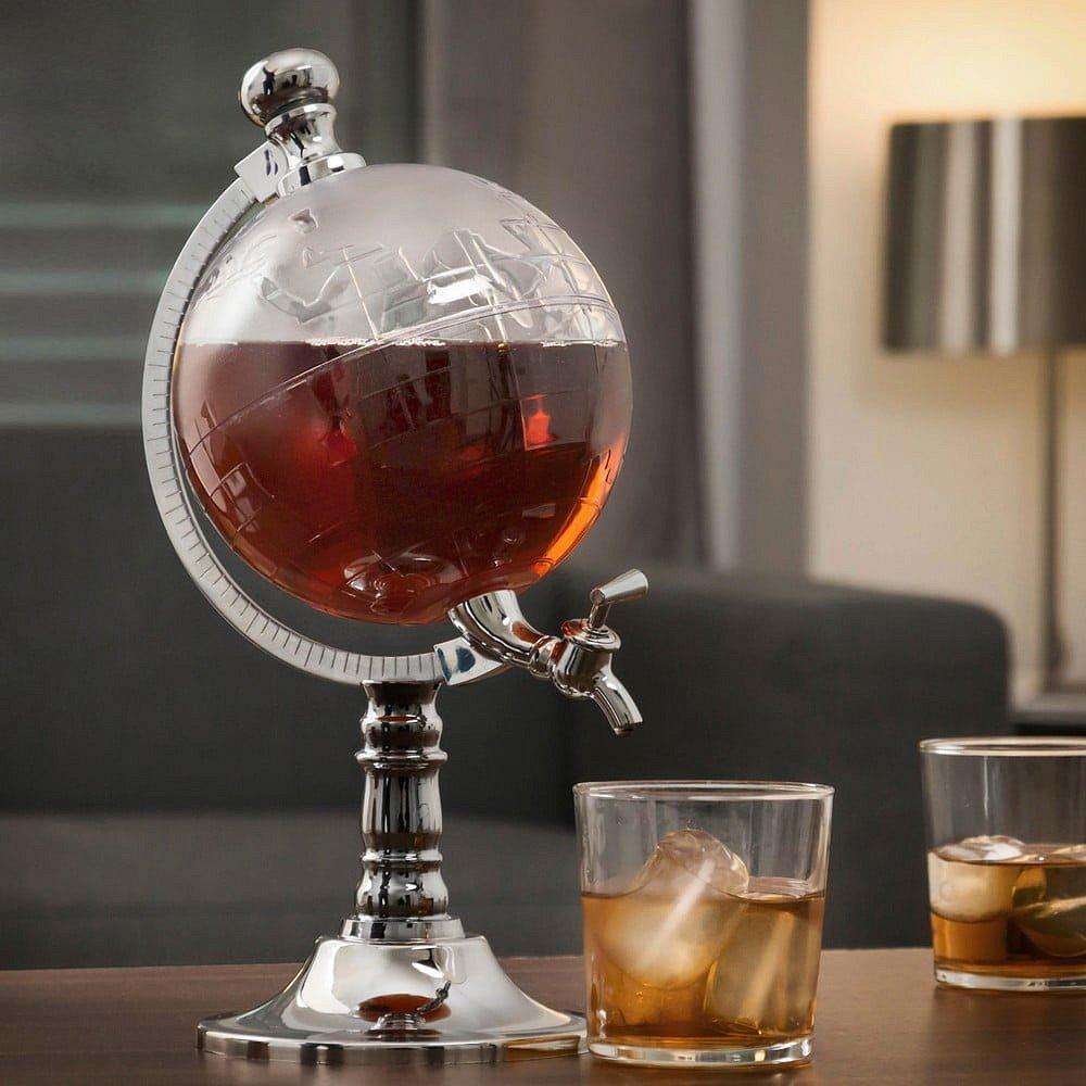 Dávkovač na alkohol s pípou InnovaGoods Globe, 1,5 l
