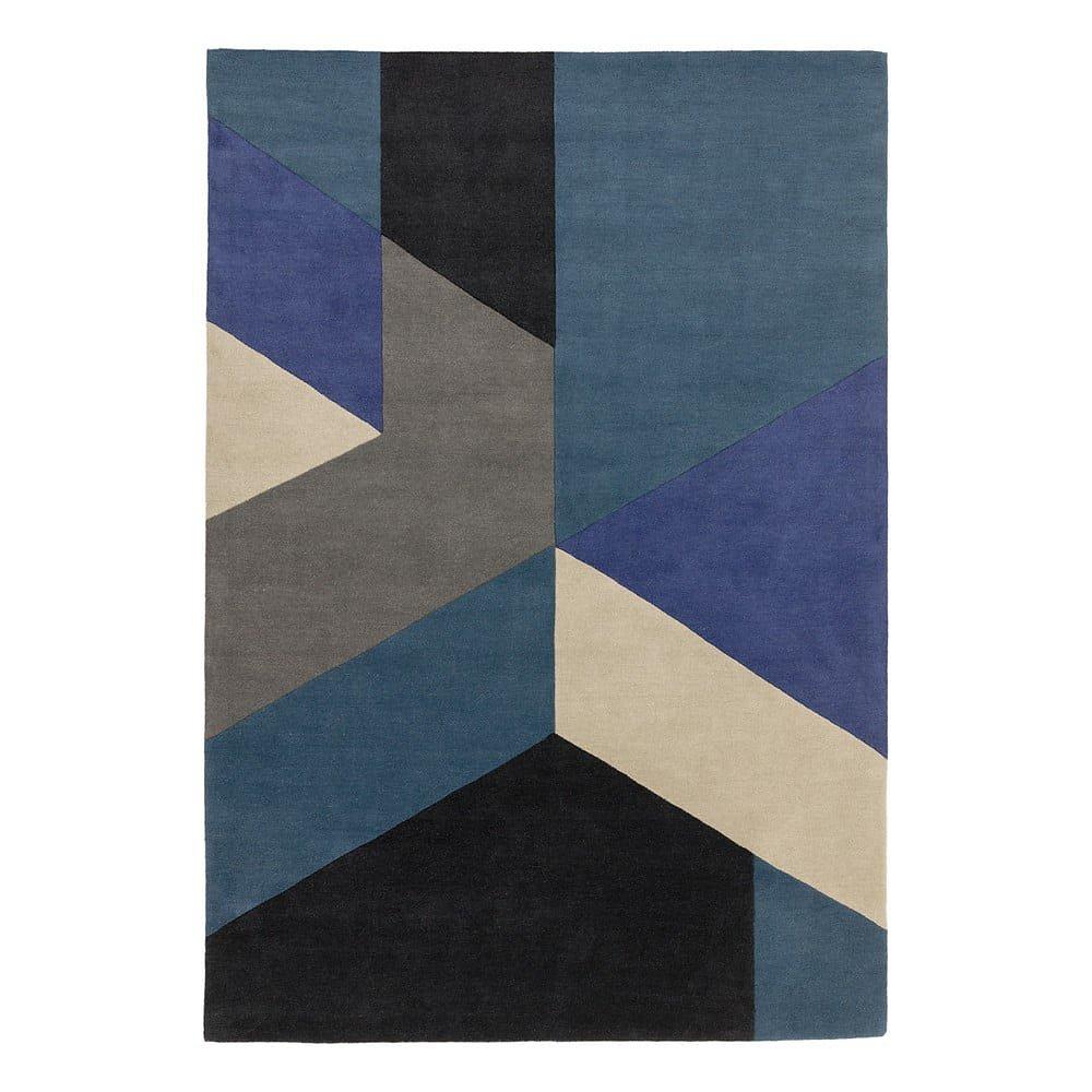 Modrý koberec Asiatic Carpets Big Geo, 200 x 290 cm