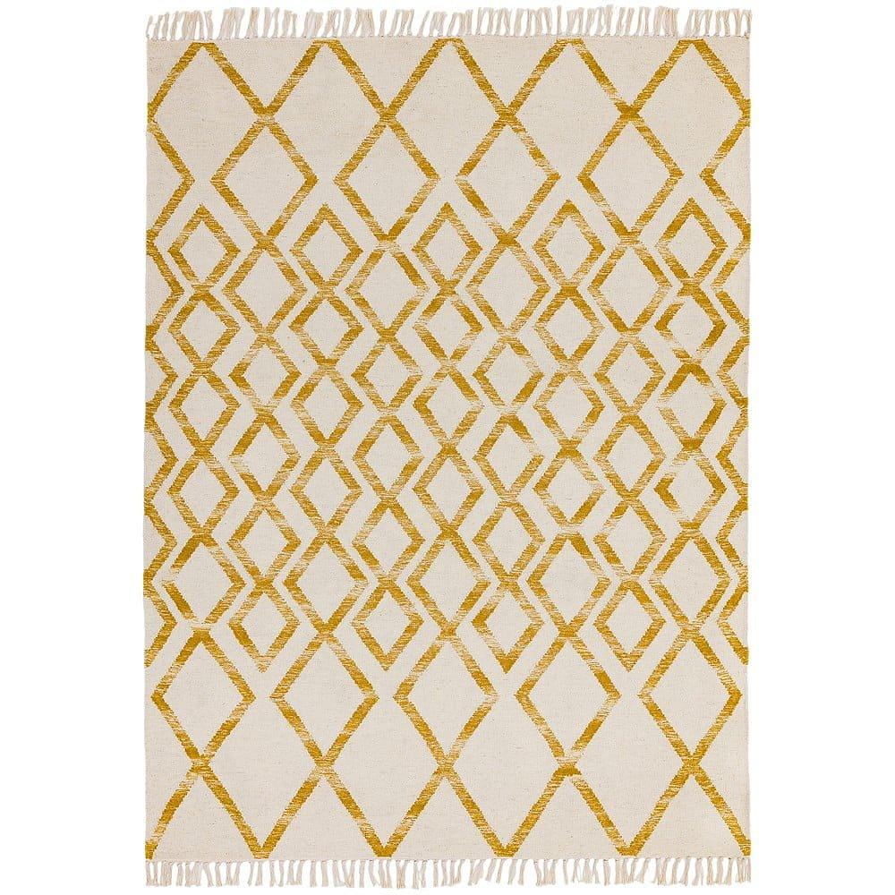 Béžovo-žlutý koberec Asiatic Carpets Hackney Diamond, 160 x 230 cm