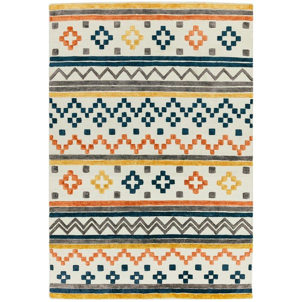 Koberec Asiatic Carpets Theo Earth Tone Geo, 160 x 230 cm