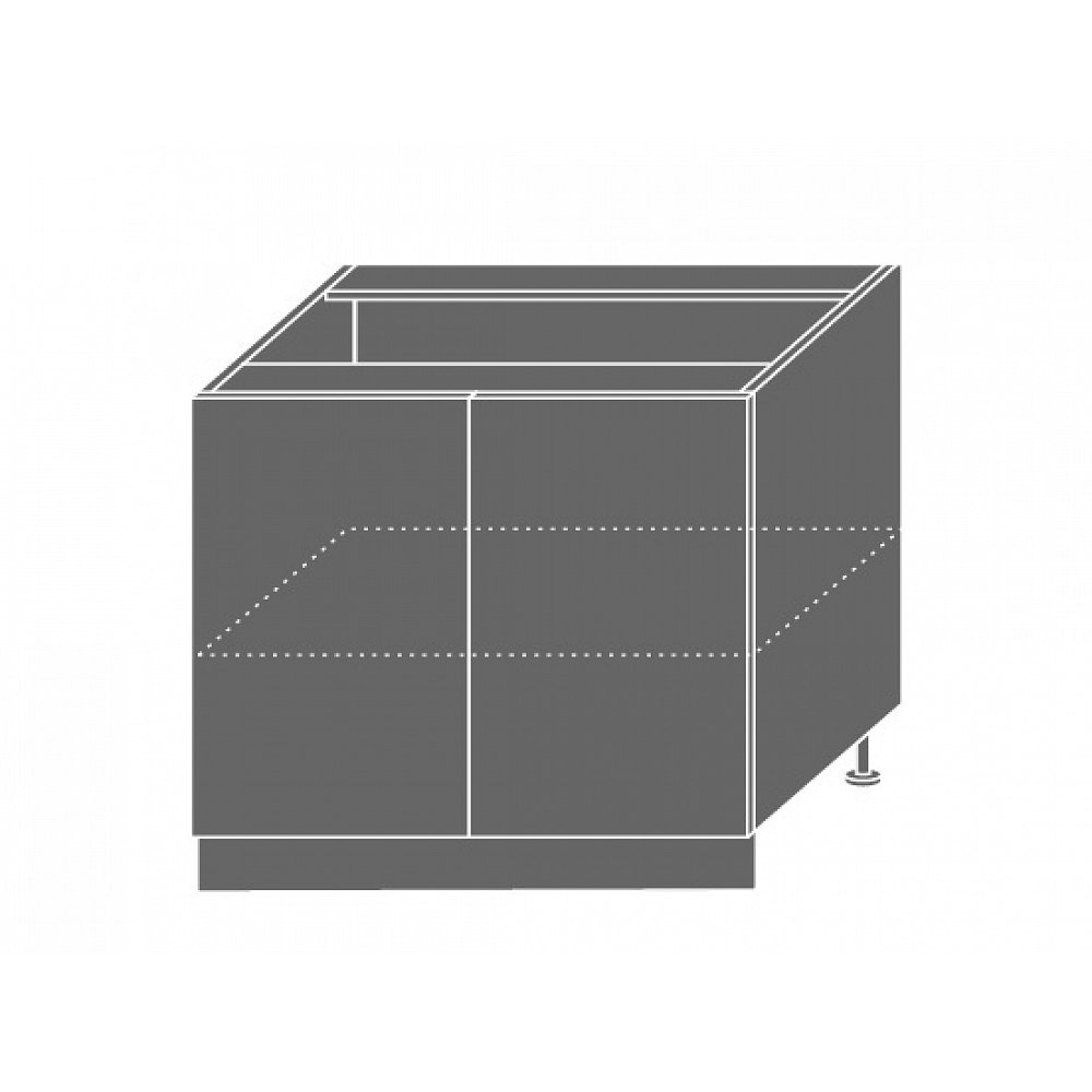 TITANIUM, skříňka dolní D11 90, korpus: lava, barva: fino bílé