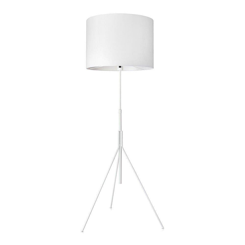 Bílá stojací lampa Markslöjd Sling, ø 52cm