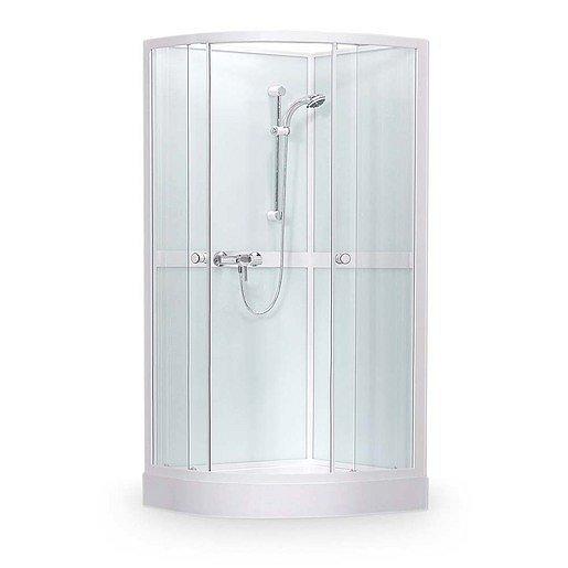 Sprchový box čtvrtkruh 90x90x205 cm Roth Projektová řešení bílá 4000249
