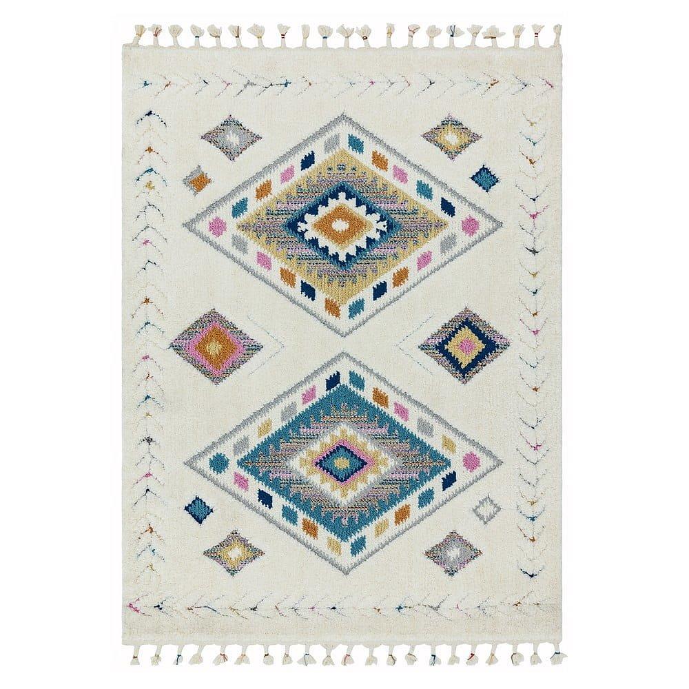 Béžový koberec Asiatic Carpets Rhombus, 160 x 230 cm