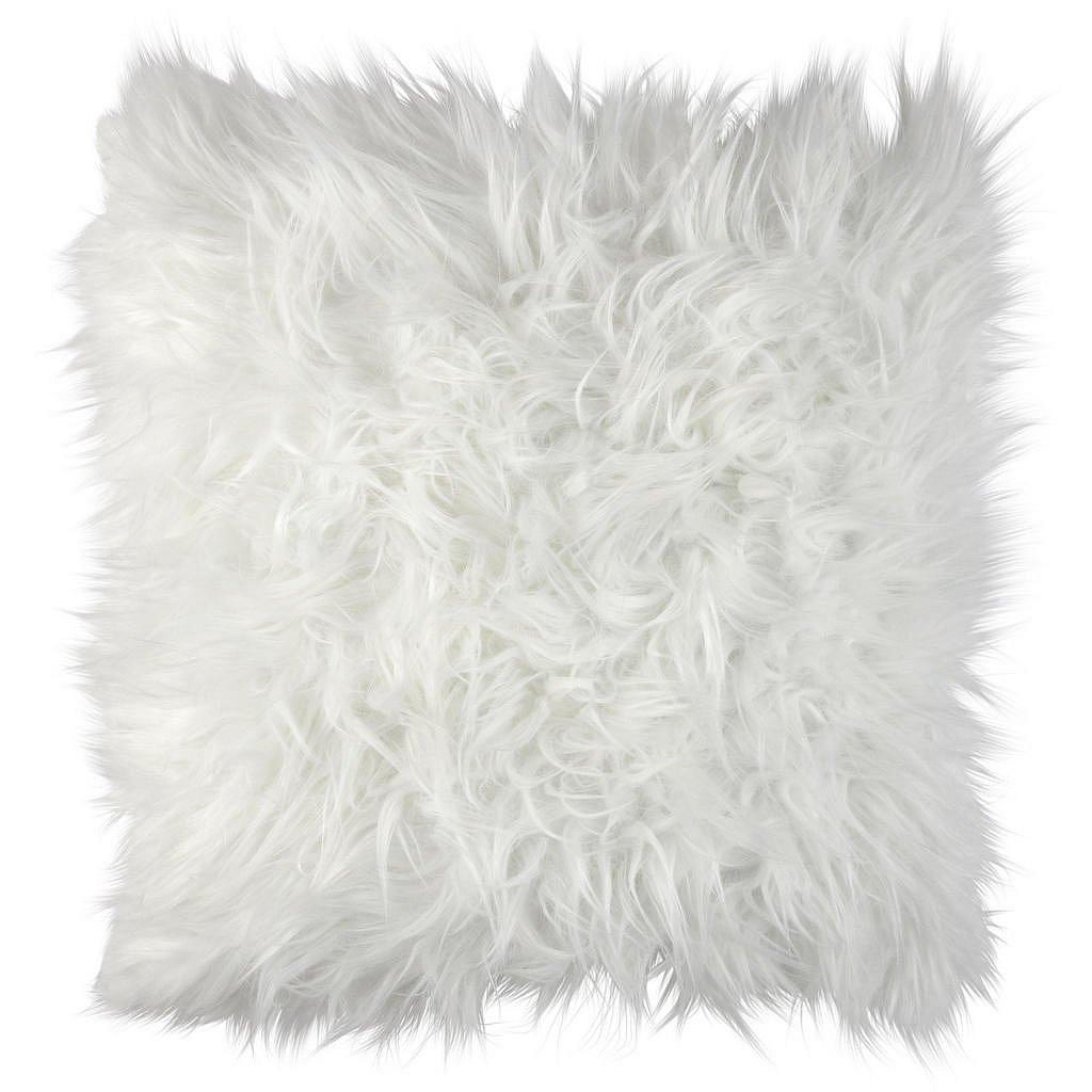 Ambia Home Kožešinový Polštář, 45/45 Cm, Bílá - Dekorační polštáře - 0031240076
