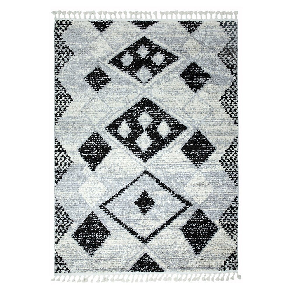 Šedý koberec Asiatic Carpets Layla, 200 x 290 cm