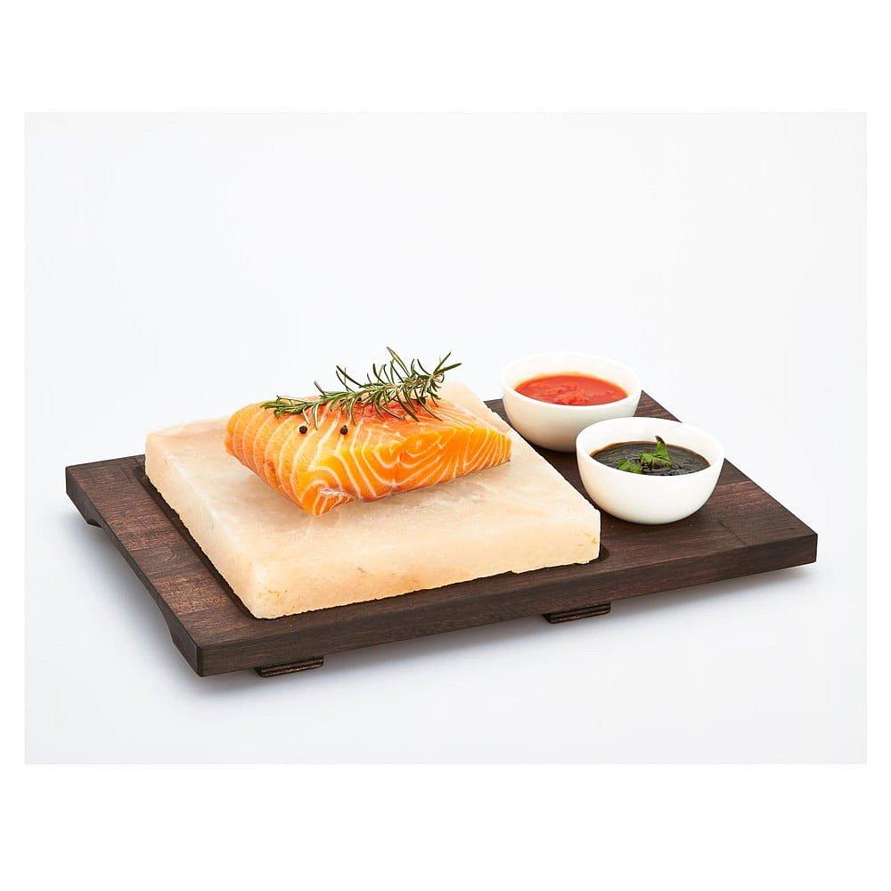Servírovací podnos se solnou deskou a miskami Bisetti Salt Plate, 20 x 20 cm