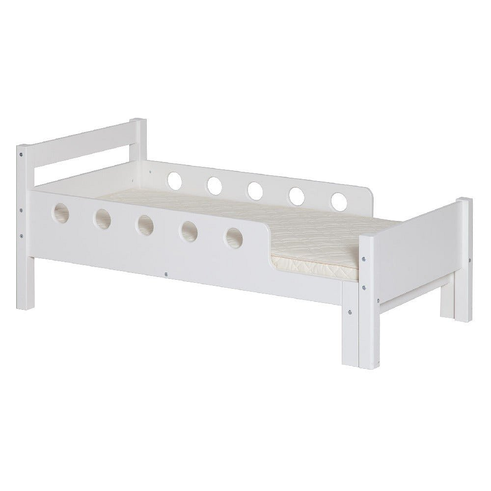 Bílá dětská nastavitelná postel Flexa White Junior, 70 x 140/190cm