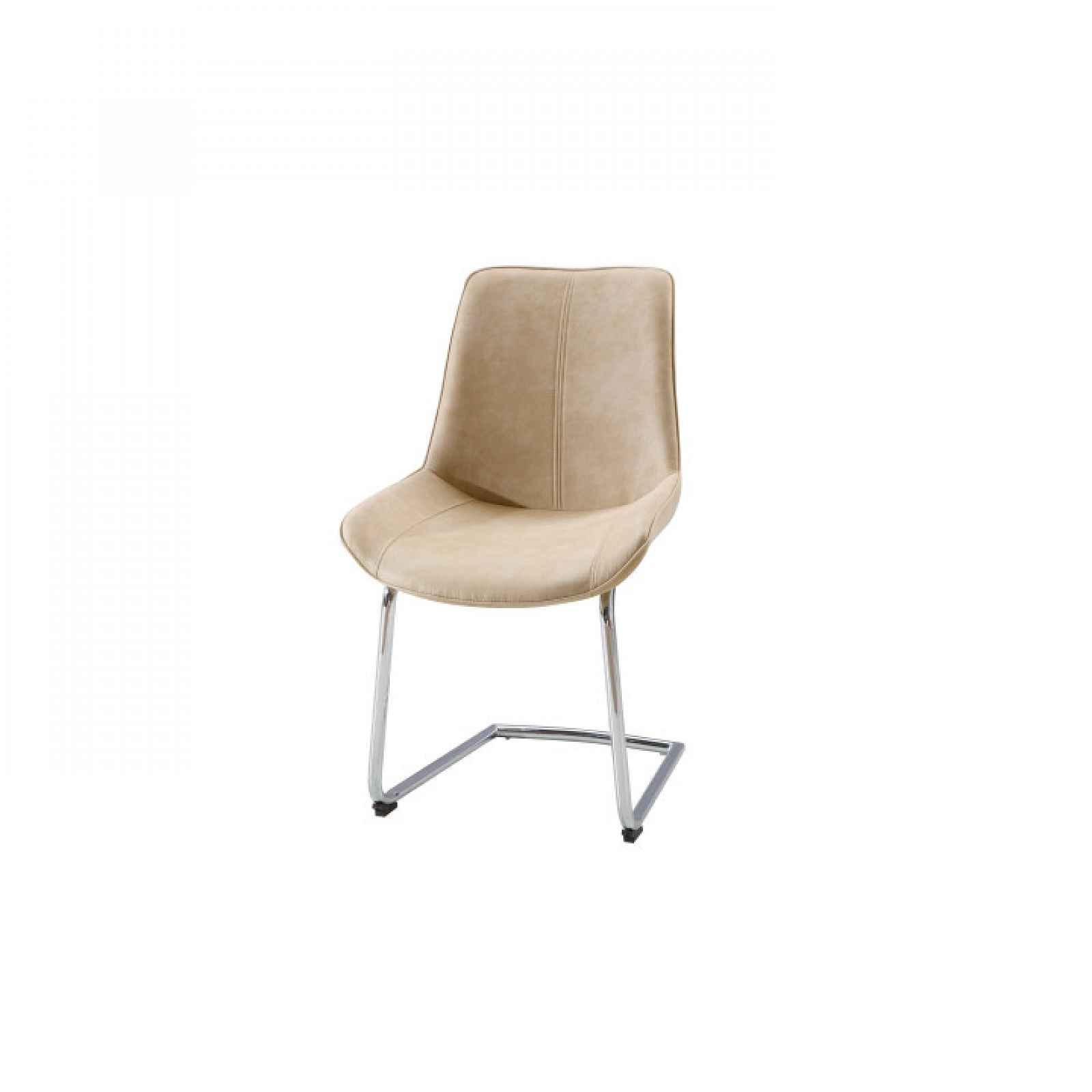 Židle, látka / chrom, NADINA 0000204528 Tempo Kondela Béžová