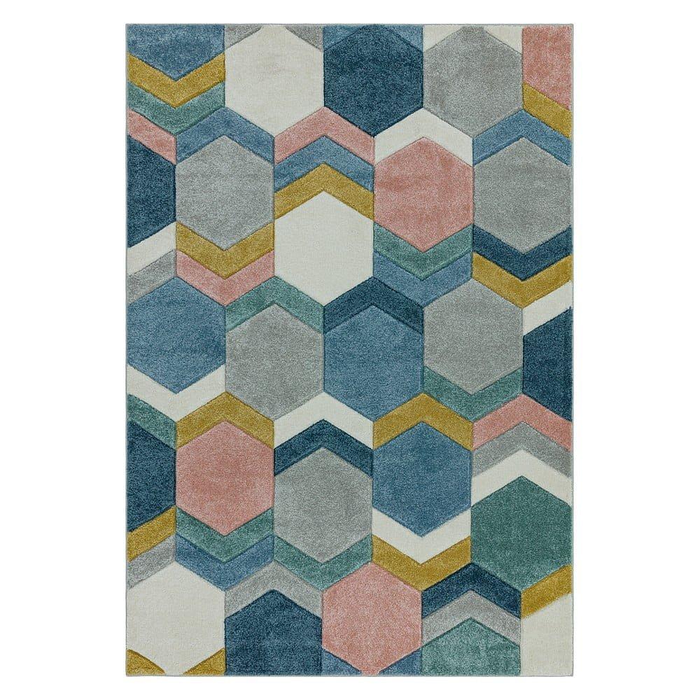 Koberec Asiatic Carpets Hexagon Multi, 120 x 170 cm