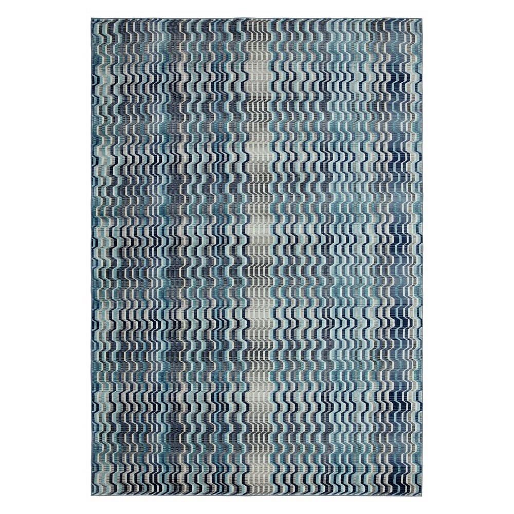 Modrý koberec Asiatic Carpets Wave, 120 x 170 cm