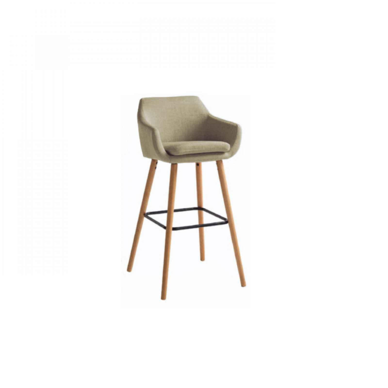 Barová židle, šedohnědá látka / černá, Tahira 0000204525 Tempo Kondela Béžová