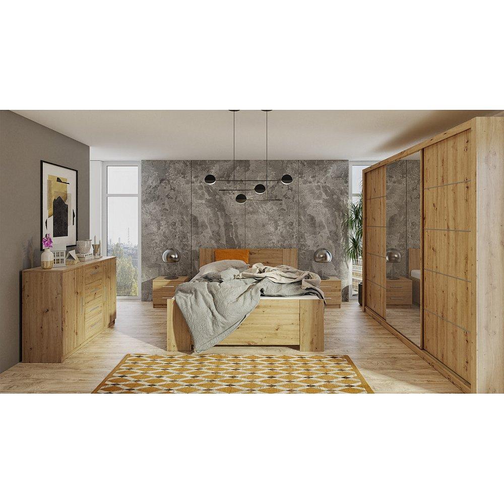 Ložnice BONO 250, dub artisan