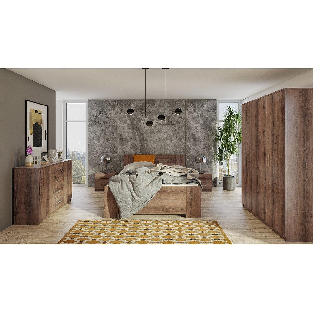 Ložnice BONO 3D, dub monastery