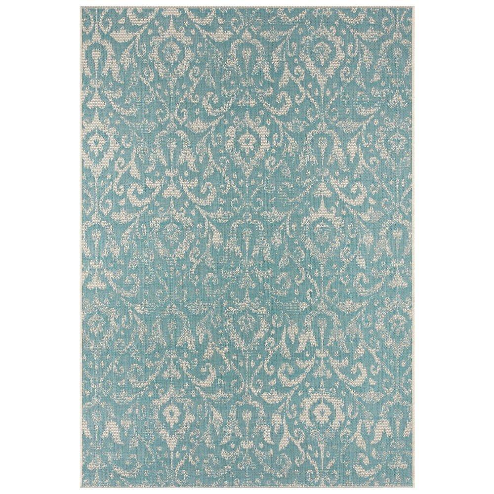 Tyrkysovo-béžový venkovní koberec Bougari Hatta, 140 x 200 cm