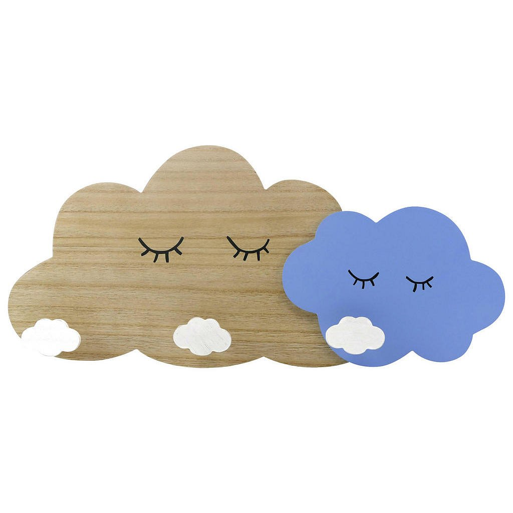 My Baby Lou Šatní Lišta, Modrá, Přírodní Barvy, Bílá - Lišty s háčky - 006318000401