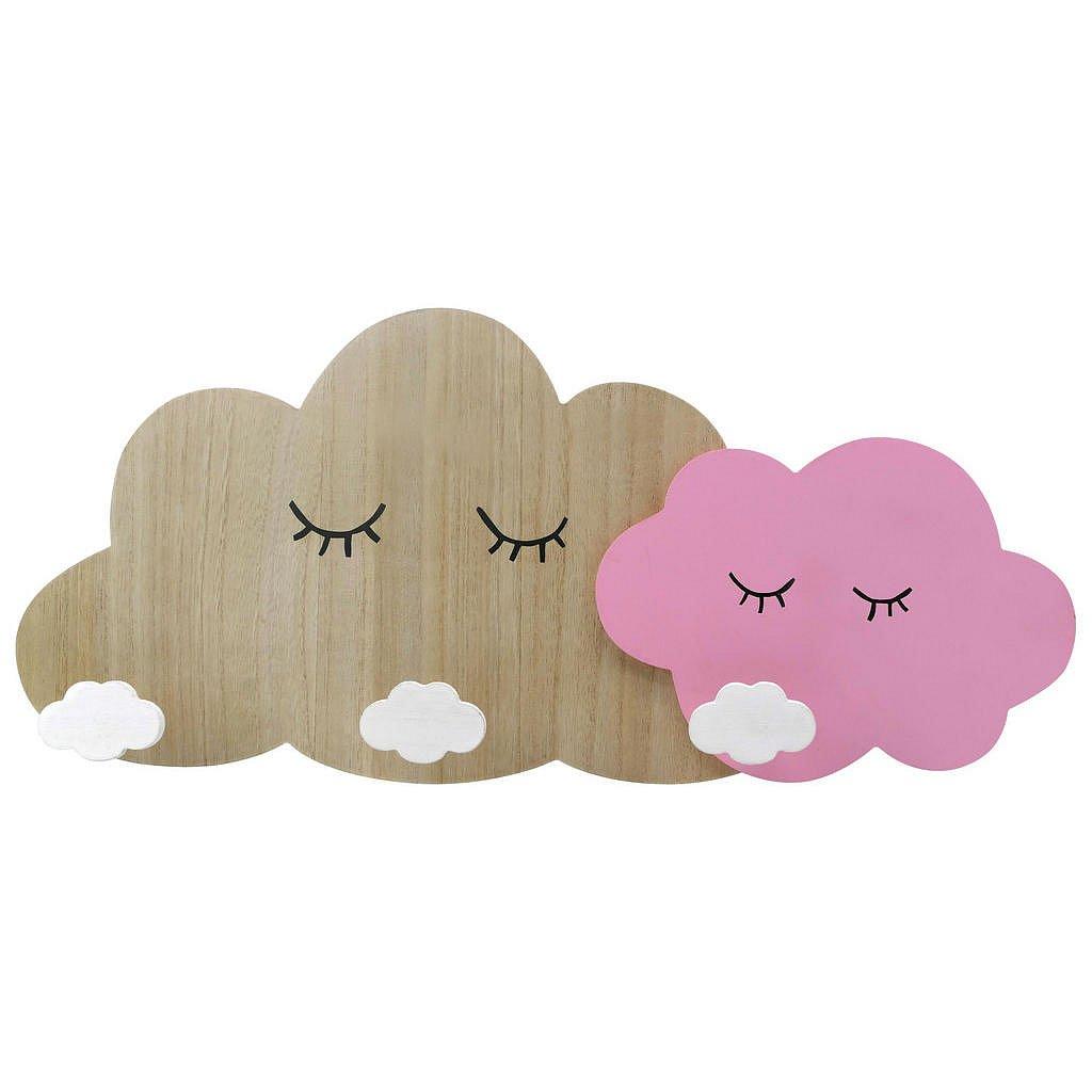 My Baby Lou Šatní Lišta, Přírodní Barvy, Bílá, Pink - Lišty s háčky - 006318000402