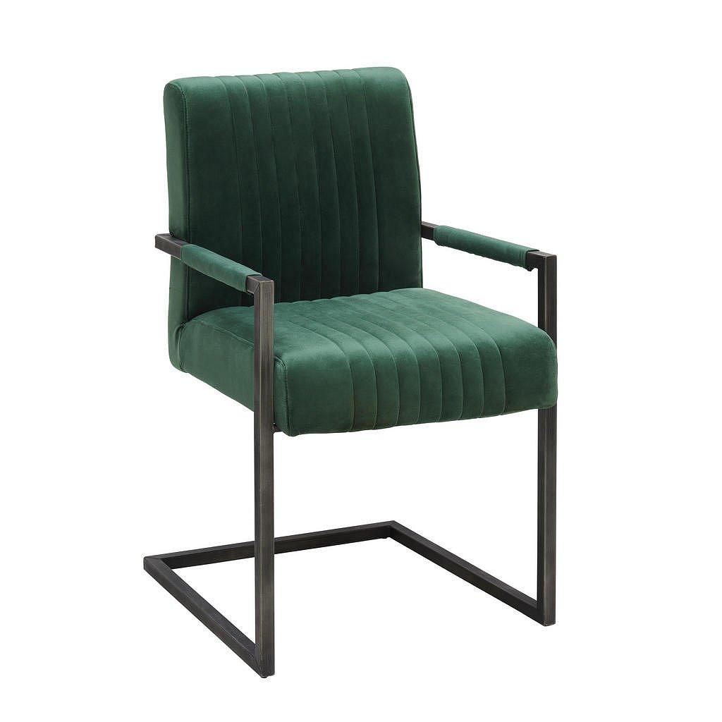 Ambia Home Židle S Područkami, Zelená, Černá, - Židle s područkami - 002731000902