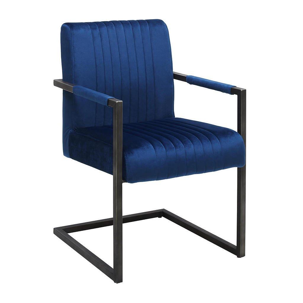 Ambia Home Židle S Područkami, Modrá, Černá, - Židle s područkami - 002731000904