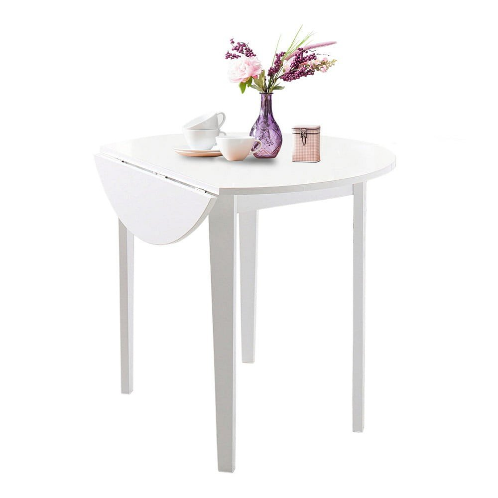Bílý skládací jídelní stůl Støraa Trento Quer, ⌀92cm