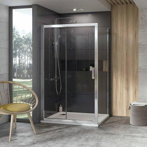 Boční zástěna ke sprchovým dveřím 100x190 cm Ravak 10° chrom matný 9UVA0U00Z1