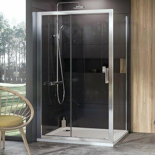 Boční zástěna ke sprchovým dveřím 100x190 cm Ravak 10° chrom lesklý 9UVA0C00Z1