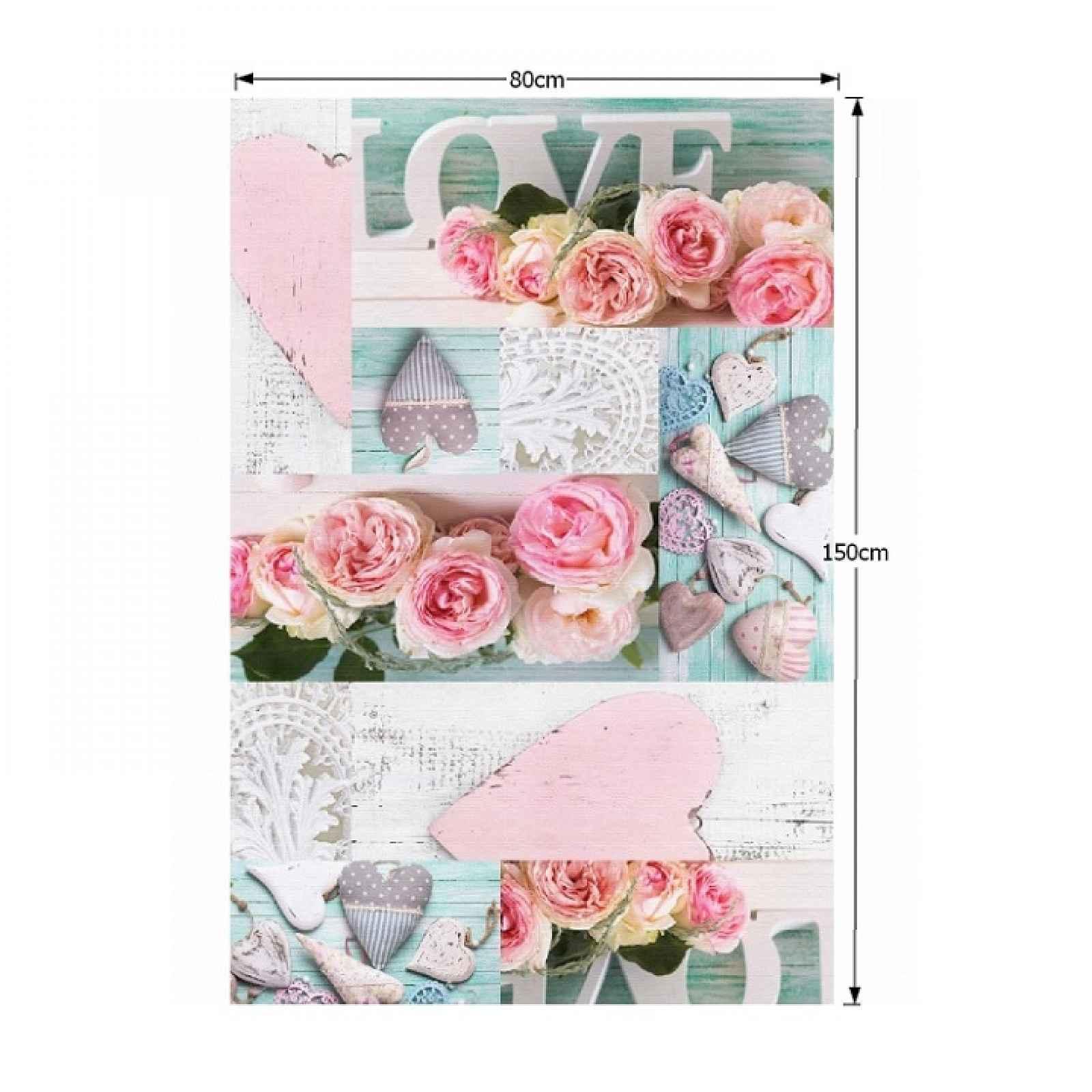 Koberec s třásněmi SONIL TYP 2 vzor růže Tempo Kondela 80x150 cm