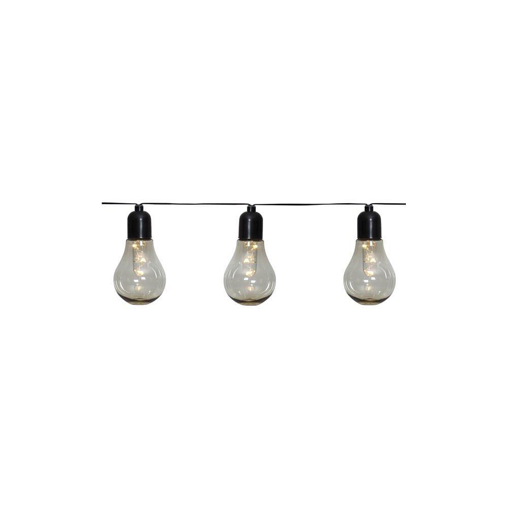 Venkovní světelný LED řetěz s motivem žárovek Best Season Glow, 10světýlek