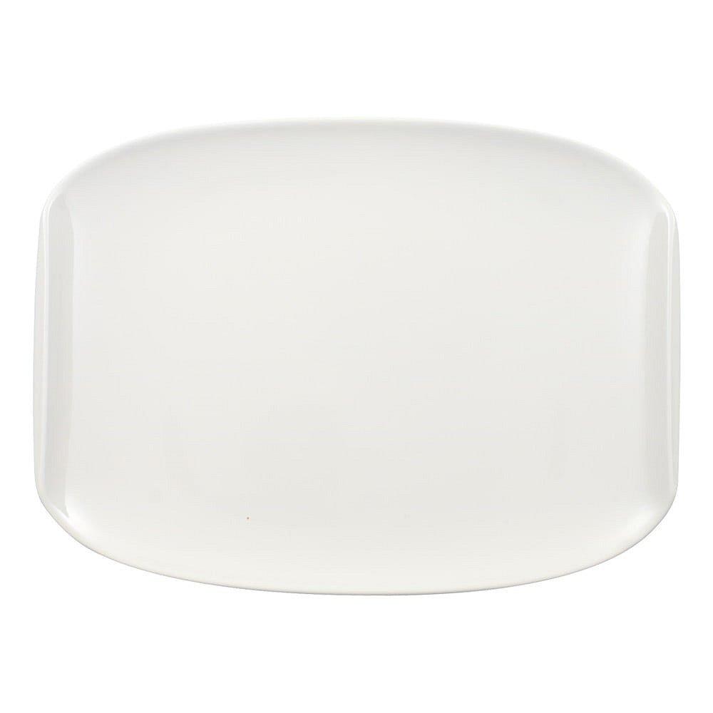 Bílý hranatý porcelánový talíř Villeroy & Boch Urban Nature, 27 x 20 cm