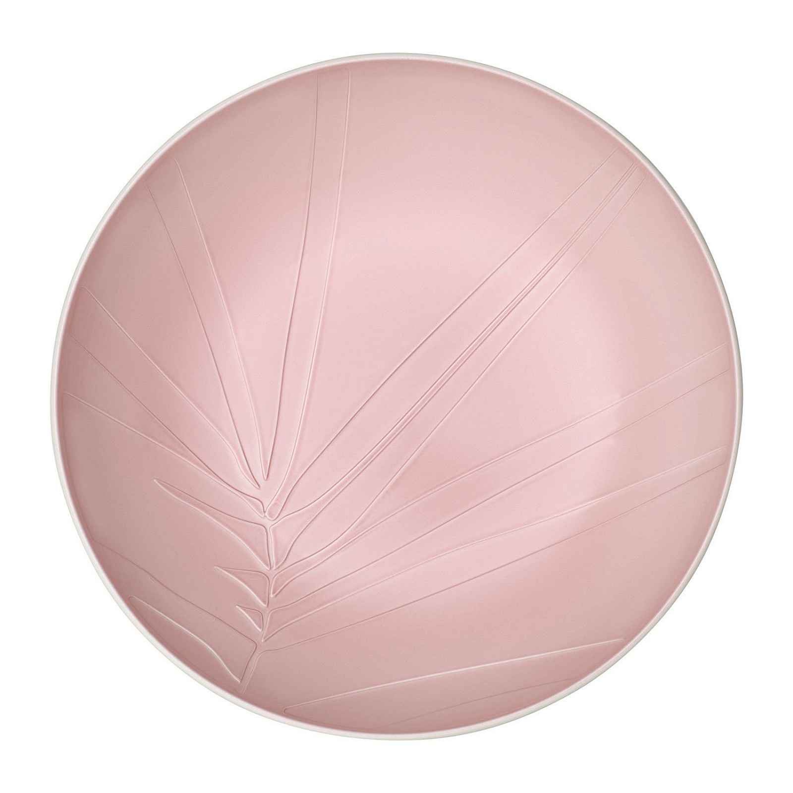 Bílo-růžová porcelánová servírovací miska Villeroy & Boch Leaf, ⌀ 26 cm